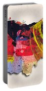 Ohio Map Art - Painted Map Of Ohio Portable Battery Charger
