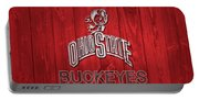 Ohio State Buckeyes Barn Door Portable Battery Charger