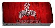 Ohio State Buckeyes Barn Door Vignette Portable Battery Charger