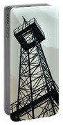 Oil Derrick In Gray Portable Battery Charger