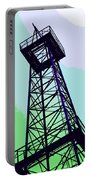Oil Derrick In Green Portable Battery Charger