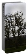 Oil Painting - An Old Tree In The Middle Of A Garden And Playground Portable Battery Charger