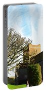 Oil Painting - Lighthouse And Church Inside Dover Castle Portable Battery Charger