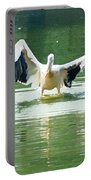 Oil Painting - Pelican Flapping Its Wings Portable Battery Charger