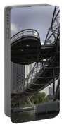 Oil Painting - The Bayfront Bridge And Helix Bridge In Singapore Portable Battery Charger