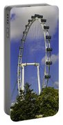 Oil Painting - The Wheel Of Singapore Flyer Portable Battery Charger