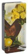 oil painting print of art for sale Golden Lemons  Portable Battery Charger