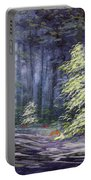 Oil Painting - Forest Light Portable Battery Charger