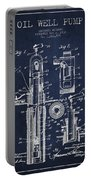Oil Well Pump Patent From 1912 - Navy Blue Portable Battery Charger