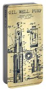 Oil Well Pump Patent From 1912 - Vintage Portable Battery Charger