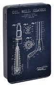Oil Well Reamer Patent From 1924 - Navy Blue Portable Battery Charger