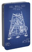 Oil Well Rig Patent From 1893 - Blueprint Portable Battery Charger