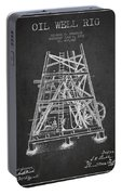 Oil Well Rig Patent From 1893 - Dark Portable Battery Charger
