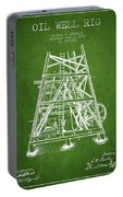 Oil Well Rig Patent From 1893 - Green Portable Battery Charger