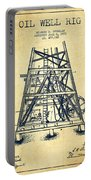 Oil Well Rig Patent From 1893 - Vintage Portable Battery Charger