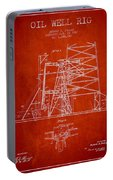 Oil Well Rig Patent From 1917- Red Portable Battery Charger