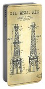 Oil Well Rig Patent From 1927 - Vintage Portable Battery Charger