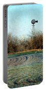 Oklahoma Farm In Winter Portable Battery Charger