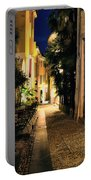 Old Alley At Night Portable Battery Charger