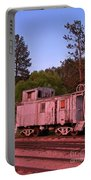 Old And Weathered Caboose Portable Battery Charger