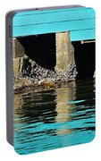 Old Aqua Boat Shed With Aqua Reflections Portable Battery Charger