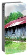 Old Barn Along Golden Road Filtered Portable Battery Charger