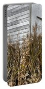Old Barn And Cornstalks Portable Battery Charger