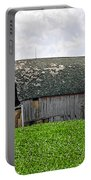 Old Barn And Round Bales Portable Battery Charger
