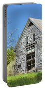 Old Barn In Spring Maine Portable Battery Charger
