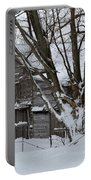 Old Barn In Winter Portable Battery Charger