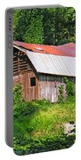 Old Barn Near Chimney Rock Portable Battery Charger