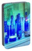Old Blue Bottles Portable Battery Charger