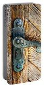 Old Bronze Church Door Handle Portable Battery Charger