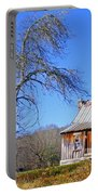 Old Cabin And Tree Portable Battery Charger
