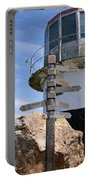 Old Cape Point Lighthouse In South Africa Portable Battery Charger