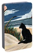 Old Cat And The Sea Portable Battery Charger by Edward Fuller