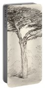 Old Cedar Tree In Botanic Garden Chelsea Portable Battery Charger