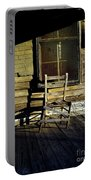 Old Chair On Old Porch Portable Battery Charger