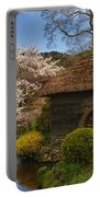 Old Cherry Blossom Water Mill Portable Battery Charger