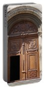 Old Church Door Cathedral Autun Portable Battery Charger
