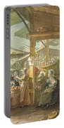 Old Covent Garden Market Portable Battery Charger by George the Elder Scharf