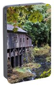 Old Creek Grist Mill In Autumn Portable Battery Charger