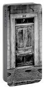 Old Door - Bw Portable Battery Charger