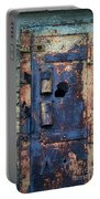 Old Door At Abandoned Prison Portable Battery Charger