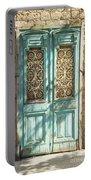 Old Door In Jersusalem Israel Portable Battery Charger