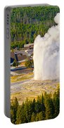 Old Faithful From Observation Point Portable Battery Charger