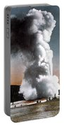 Old Faithful Geyser Yellowstone Np Portable Battery Charger