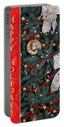 Old Fashioned Christmas Portable Battery Charger by Carolyn Marshall