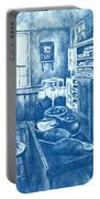 Old Fashioned Kitchen In Blue Portable Battery Charger