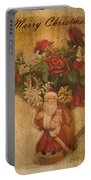 Old Fashioned St Nick Portable Battery Charger